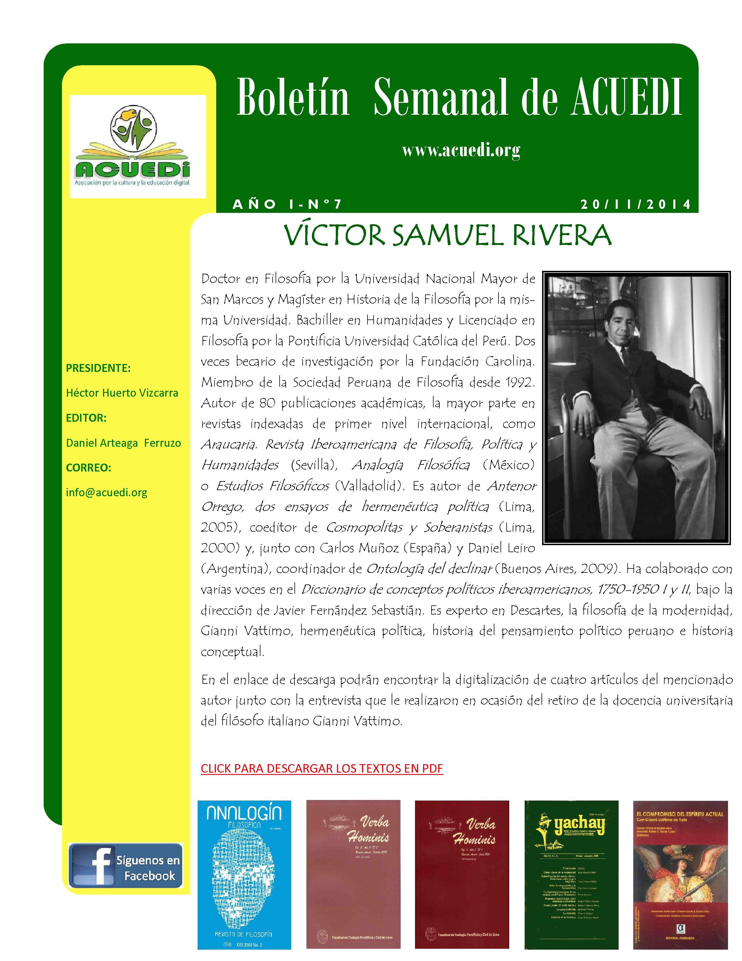 Boletín Semanal...